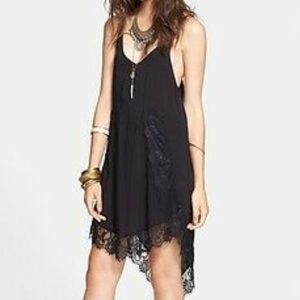 Free People Eyelash Lace Racerback Slip Small